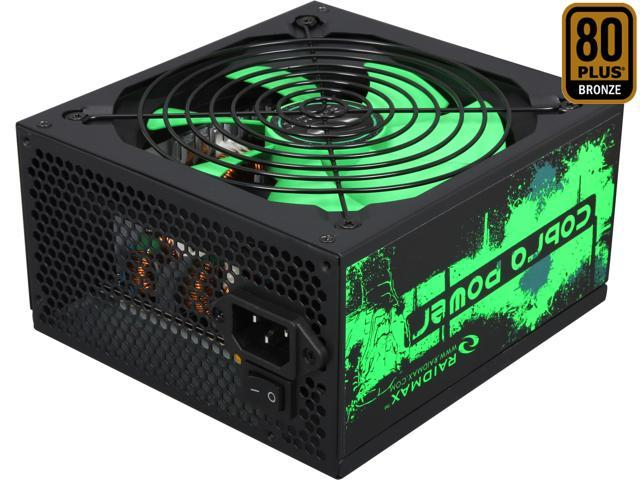 RAIDMAX Cobra RX-700AC-B Continuous 700 watts ATX12V / EPS12V SLI Ready CrossFire Ready 80 PLUS BRONZE Certified Power Supply