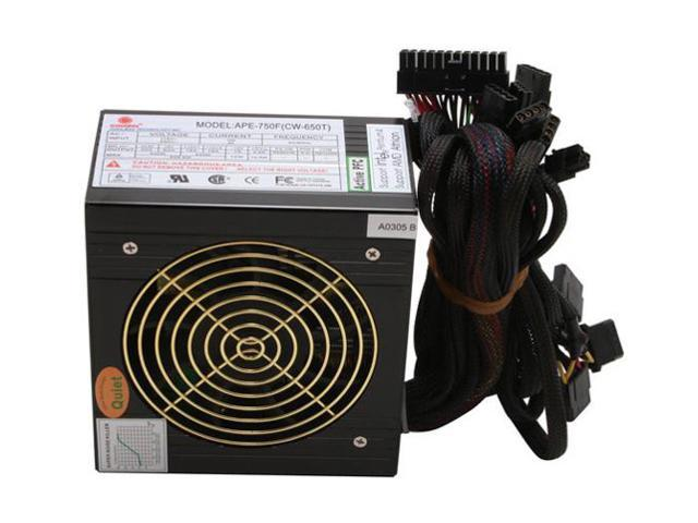 COOLMAX CW-650T 650W ATX12V / EPS12V SLI Certified CrossFire Ready Active PFC Aluminum Power Supply