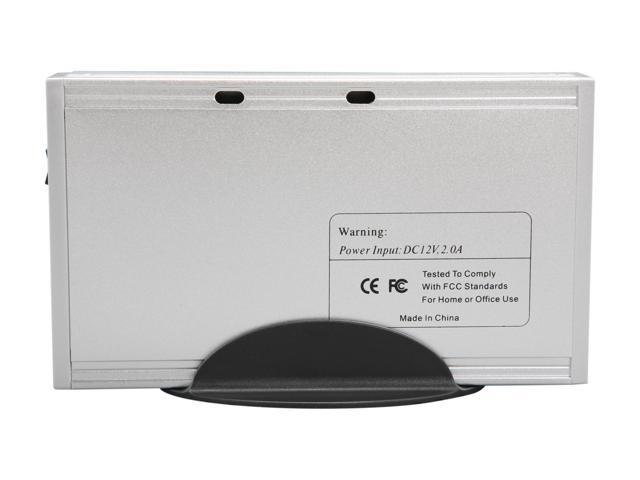 "COOLMAX HD-389-U2 Aluminum 3.5"" Silver USB 2.0 External Enclosure"