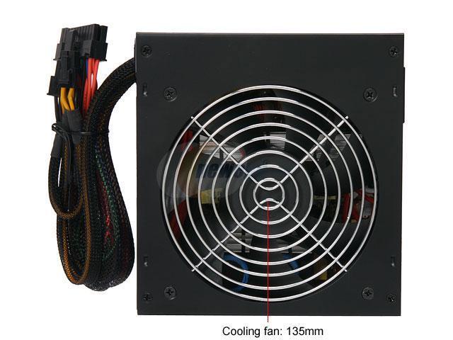 COOLMAX CU-500B 500W ATX 12V V2.2/EPS 12V V2.91 Modular Power Supply