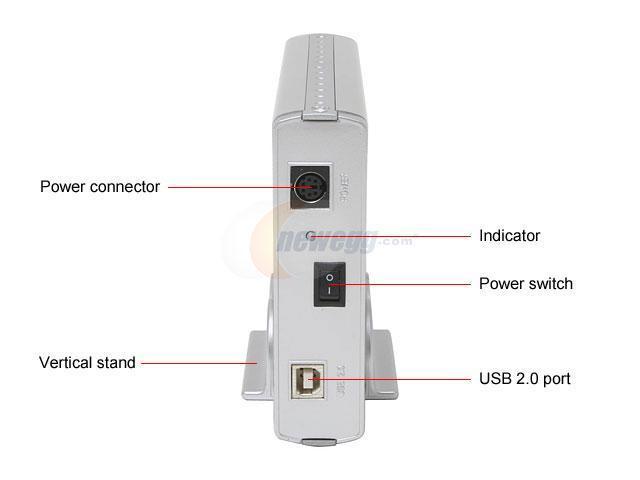 """POWMAX EMV35SL Aluminum 3.5"""" USB 2.0 External Enclosure"""