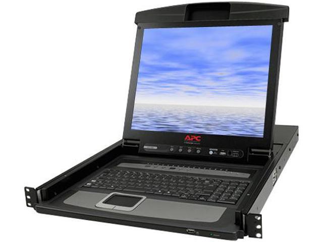 APC AP5808 Rackmount LCD Console with Integrated KVM Switch