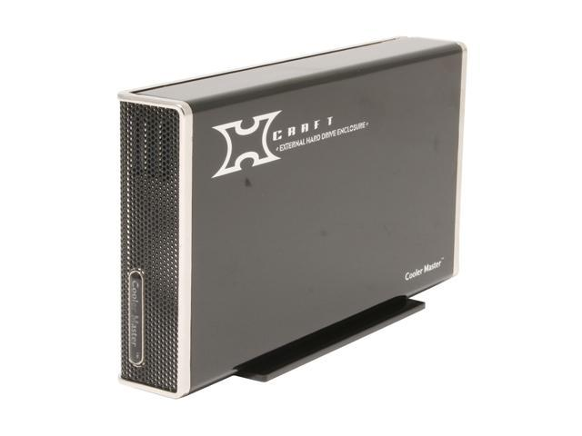 "COOLER MASTER RX-3SB-LAB1-GP Aluminum 3.5"" USB 2.0 & eSATA External Enclosure w/ Hub & Back up"