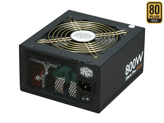 COOLER MASTER Silent Pro Gold Series RS800-80GAD3-US 800W Power Supply New 4th Gen CPU Certified Haswell Ready