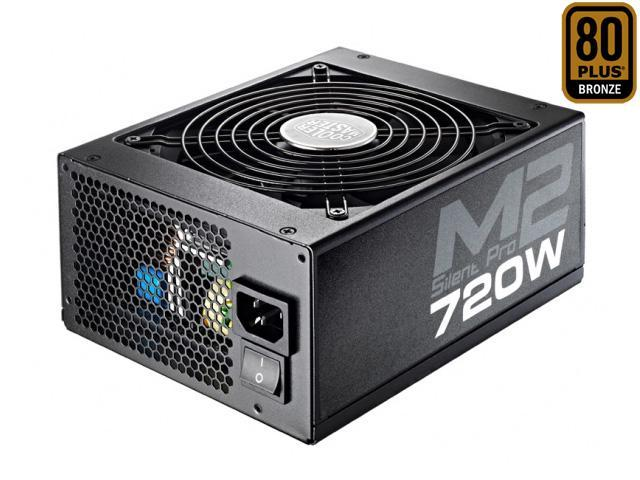 COOLER MASTER Silent Pro M2 RS720-SPM2D3-US 720W ATX12V V2.3 SLI Ready CrossFire Ready 80 PLUS BRONZE Certified Full Modular Active PFC Power Supply