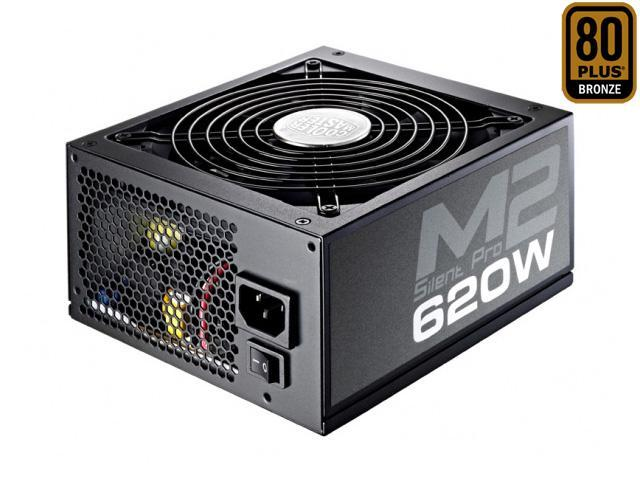 COOLER MASTER Silent Pro M2 RS620-SPM2E3-US 620W ATX12V V2.3 SLI Ready CrossFire Ready 80 PLUS BRONZE Certified Full Modular Active PFC Power Supply