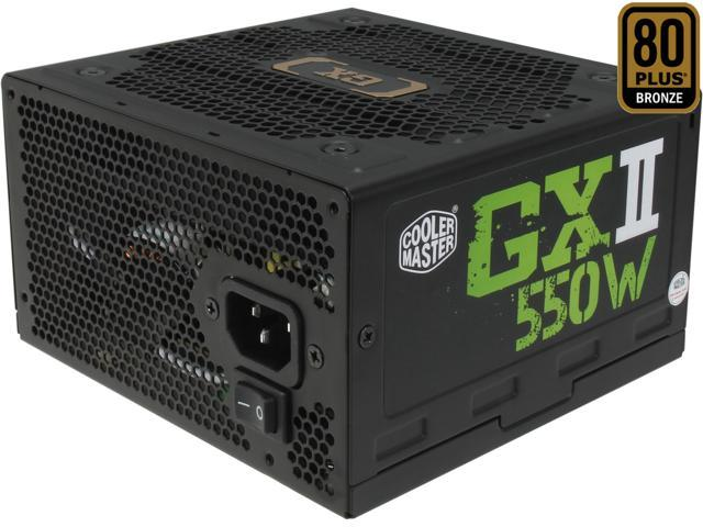 COOLER MASTER GXII RS550-ACAAB1-US 550W ATX 12V V2.31 80 PLUS BRONZE Certified Active PFC Power Supply