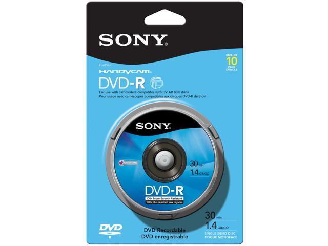 SONY 1.4GB DVD-R 10 Packs Media Model 10DMR30RS1H