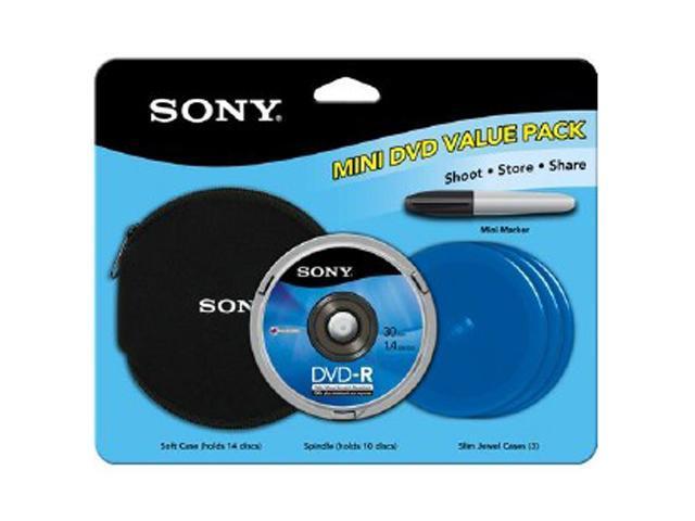 SONY 1.4GB Mini DVD-R 10 Packs Disc Model 10DMR30R1H/VP
