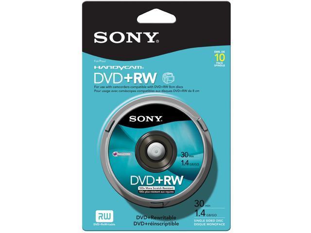 SONY 1.4GB DVD+RW 10 Packs Disc Model 10DPW30RS2H