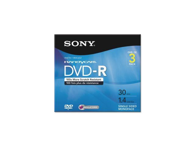 SONY 1.4GB DVD-R 3 Packs DVD-R Recordable Media Model 3DMR30R1H