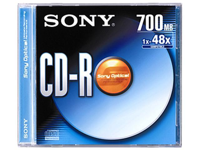 Sony CDQ80R CD Recordable Media - CD-R - 48x - 700 MB - 1 Pack Jewel Case