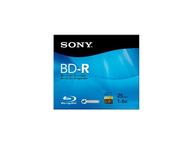 Sony BNR25R3H/2 Blu-ray Recordable Media - BD-R - 6x - 25 GB - 1 Pack Jewel Case