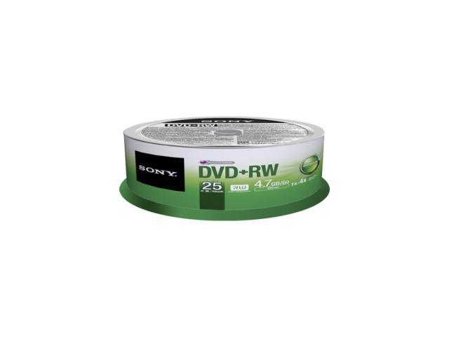 Sony 25DPW47SPM DVD Rewritable Media - DVD+RW - 4x - 4.70 GB - 25 Pack Spindle