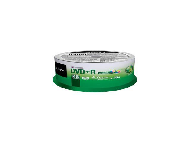Sony 25DPR47PP DVD Recordable Media - DVD+R - 16x - 4.70 GB - 25 Pack Spindle