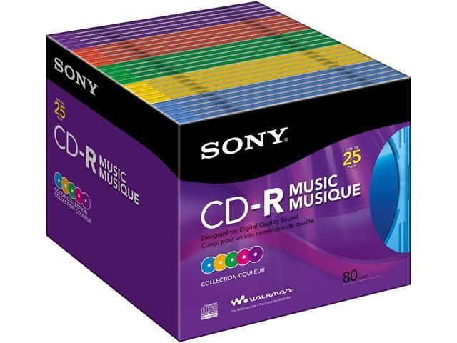 Sony 25CRM80XS CD Recordable Media - CD-R - 700 MB - 25 Pack Slim Jewel Case