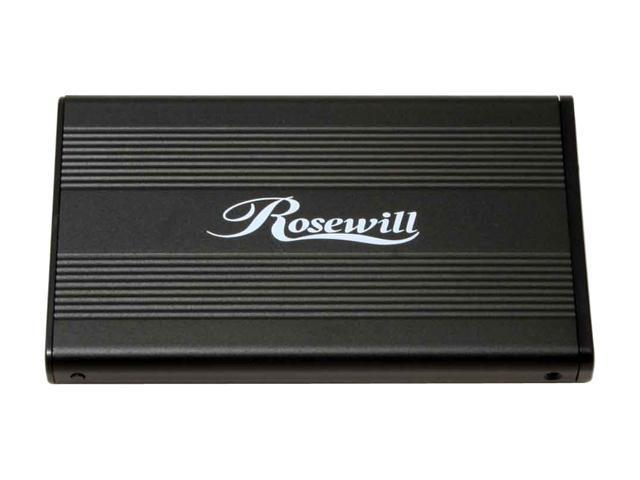 "Rosewill RX25MV-U BLK Aluminum & plastic 2.5"" Black Compliant with USB 1.1 only External Enclosure"