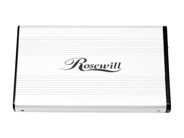 "Rosewill RX25MV-U Series RX25MV-U SLV Aluminum & plastic 2.5"" Silver Compliant with USB 1.1 only External Enclosure"