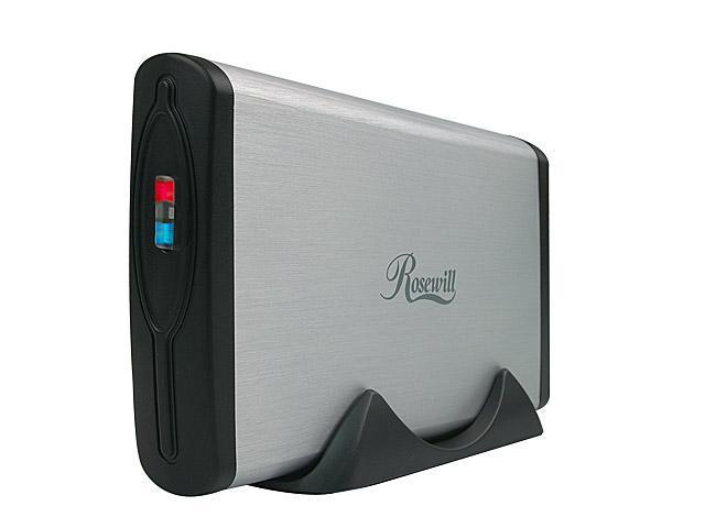 "Rosewill RX353-S SLV Rigid Aluminum Body and ABS plastic panel 3.5"" Silver USB2.0 & eSATA External Enclosure"