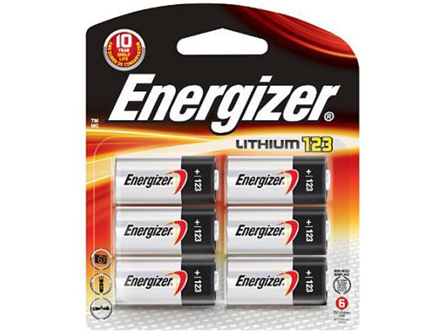Energizer EL123BP-6 6-pack Lithium Batteries