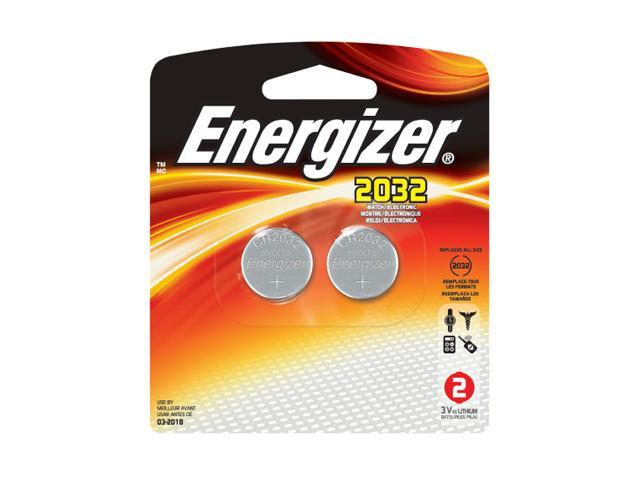Energizer 2032BP-2 2-pack 2032 Lithium Coin Cell Batteries