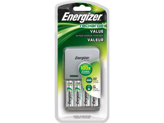 Energizer CHVCMWB-4 Rechargeable Batteries & Charger Kit