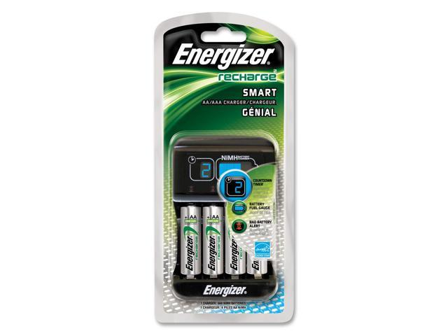 Energizer CHP4WB4 4-pack 1400mAh AA Ni-MH Rechargeable Batteries & Charger Kit
