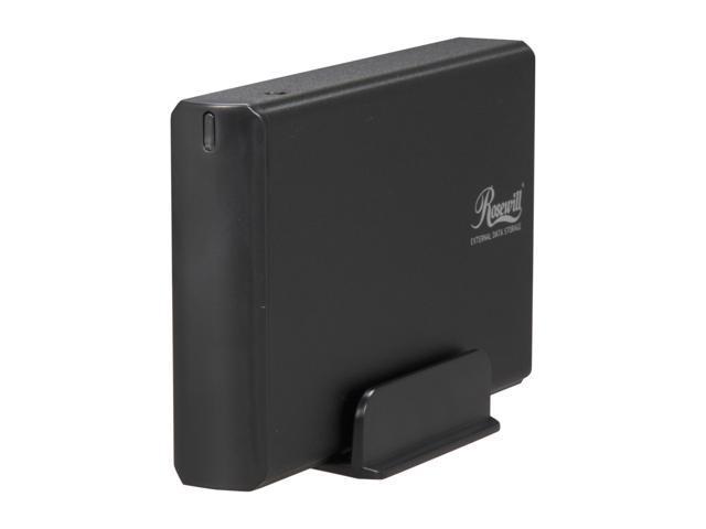 """Rosewill RX35-AT-IU BLK - Aluminum 3.5"""" Black IDE USB 2.0 External Enclosure"""