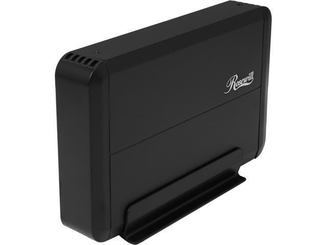 "Rosewill RX307-PU3-35B - 3.5"" Hard Drive Enclosure - SATA III, USB 3.0, Energy Saving, UASP, Black Aluminum & ABS Plastic"