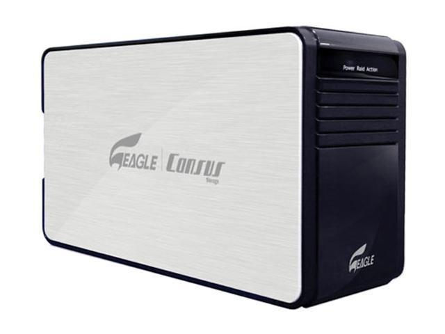 "EAGLE Consus D Series ET-CSDU2F-BK 3.5"" Dual SATA to USB2.0 & Firewire(JBOD & RAID 0) HDD External Enclosure"