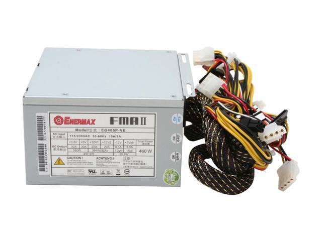 ENERMAX EG465P-VE FMA 2.2 460W ATX12V SLI Ready 80 PLUS Certified Active PFC Power Supply