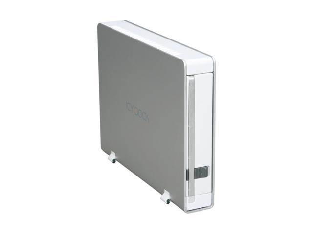 "ICY DOCK MB559 Series MB559US-1S Aluminum body w/ partial plastic 3.5"" Pearl White USB2.0 & eSATA External Enclosure"