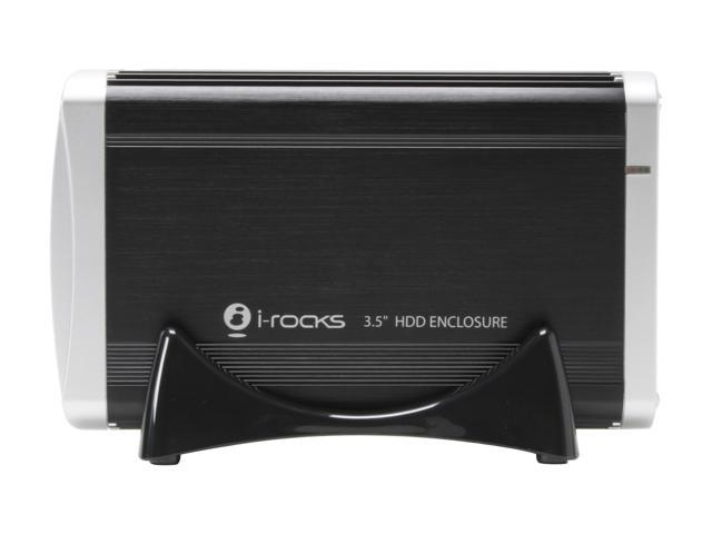 "i-rocks IR-9410C-BK Aluminum Alloy 3.5"" Black USB 2.0 & 1394a External Enclosure"