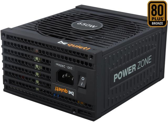 be quiet! POWER ZONE 650W ATX 12V Fully Modular Power Supply Silentwings 135mm Fan