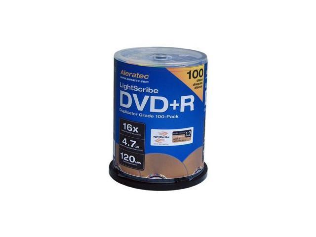 Aleratec 4.7GB 16X DVD+R LightScribe V1.2 100 Packs Disc Model 300114