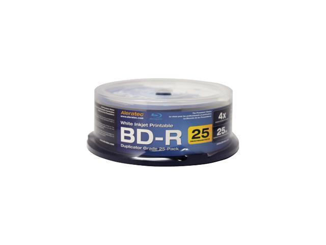 Aleratec 4X BD-R Inkjet Printable 25 Packs 4x BD-R Media Model 370102