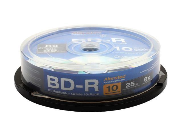 Aleratec 25GB 6X BD-R 10 Packs Duplicator Grade Blu-ray Media Model 370103