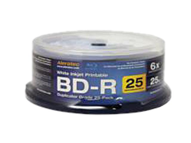 Aleratec Blu-ray Recordable Media - BD-R - 10x - 25 GB - 25 Pack Spindle