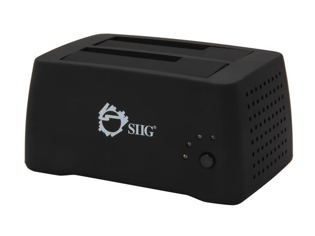 SIIG SC-SA0J12-S1 Black SuperSpeed USB 3.0 to SATA 3Gb/s Dual Docking