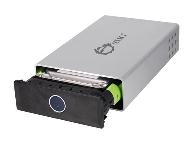 SIIG JU-SA0F12-S1 Silver USB 3.0 to SATA/IDE External Enclosure - OEM