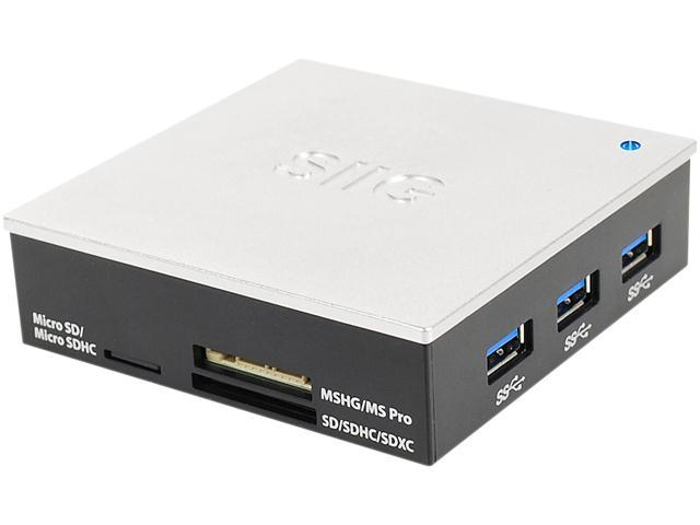 SIIG USB 3.0 & 2.0 Hub with Card Reader and 5V/4A Adapter