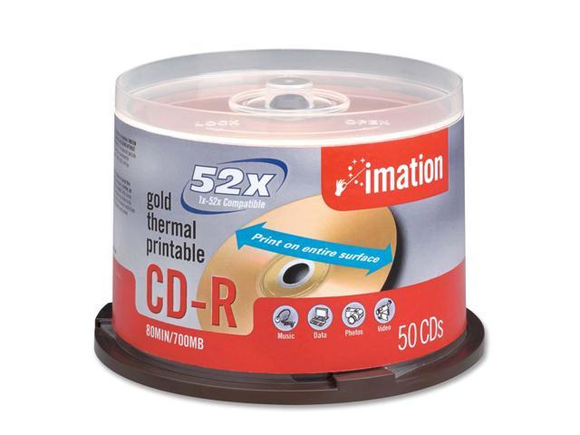 imation 700MB 52X CD-R 50 Packs Disc Model 17300