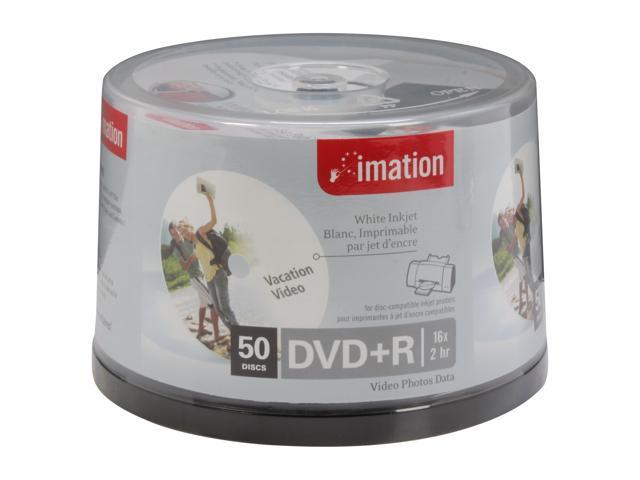 imation 16X DVD+R White Inkjet 50 Packs Disc Model 17353