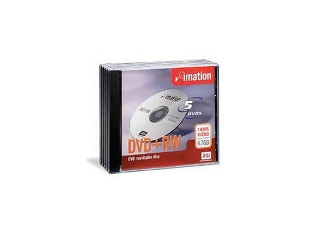 imation 4.7GB 4X DVD+RW 5 Packs Media Model 16804