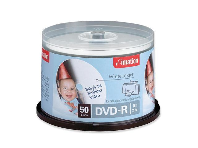 imation 4.7GB 16X DVD-R Inkjet Printable 50 Packs Media Model 17350