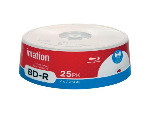 imation 25GB 4X BD-R Inkjet Printable 25 Packs Blu-ray Recordable Media Model 27792
