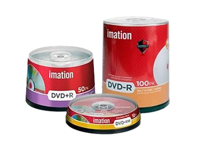 Imation 27056 DVD Rewritable Media - DVD+RW - 8x - 4.70 GB - 10 Pack Spindle