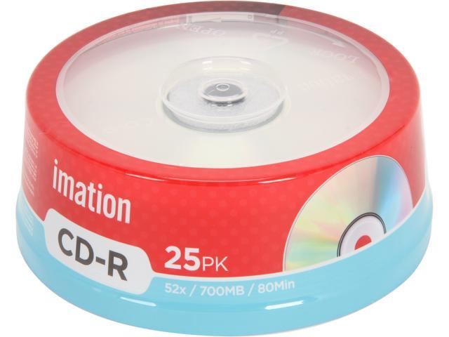 imation 700MB 52X CD-R 25 Packs Media Model 17333IM004SA
