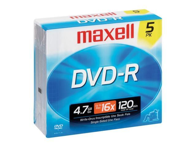 maxell 4.7GB 16X DVD-R 5 Packs Disc Model 638002