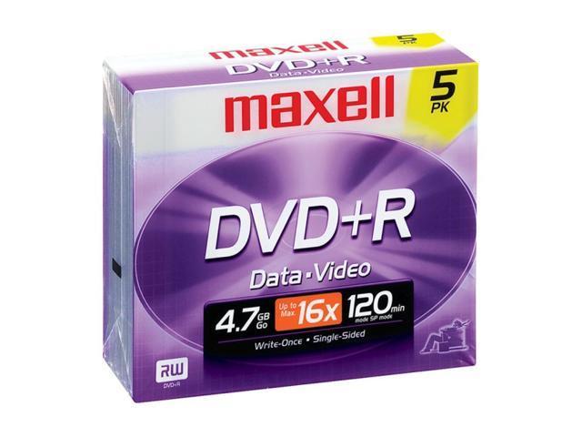 maxell 4.7GB 16X DVD+R 5 Packs Disc Model 639002
